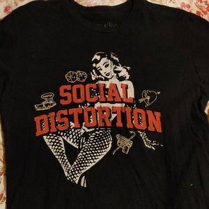 Social Distortion pin-up girl shirt medium